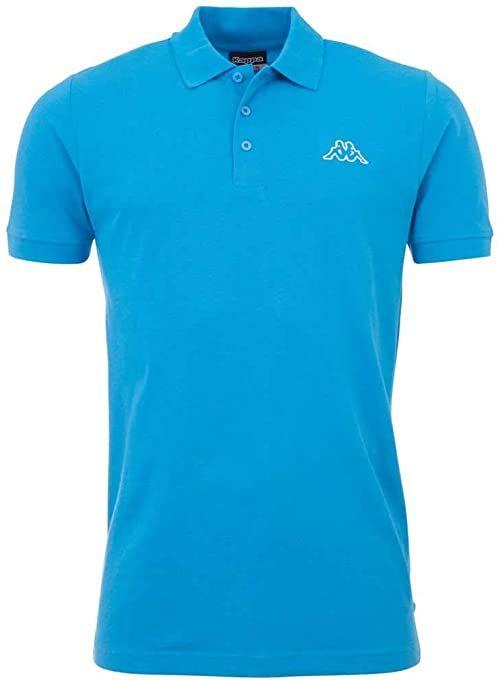 Kappa Męska koszulka polo Peleot, malibu blue, XXXXXL