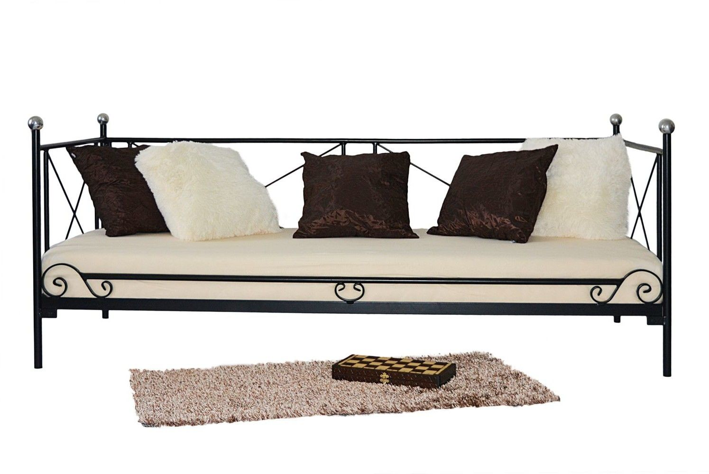 Łóżko metalowe sofa 80x190 wzór 22 ze stelażem