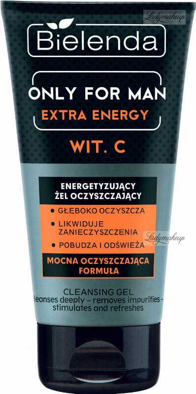 Bielenda - Only for Man - Extra Energy Wit.C - Energetyzujący żel oczyszczający do mycia twarzy dla mężczyzn - 150 g
