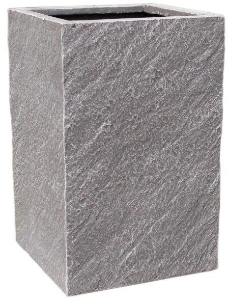 Donica kompozytowa Cermax prostokątna 70 x 26 x 31 cm ciemny grafit