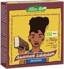 Baton amarantusowy w gorzkiej czekoladzie BIO 140g (5 szt) Allos