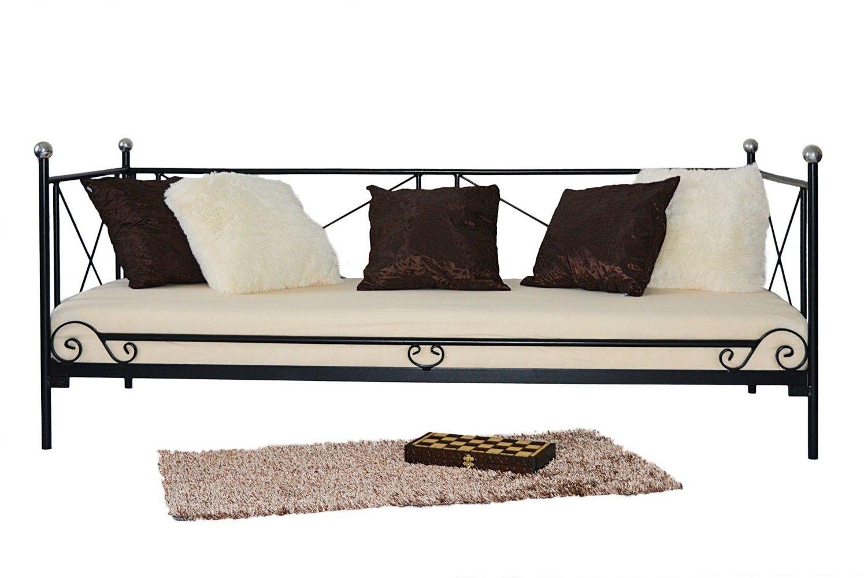 Łóżko metalowe sofa 90x180 wzór 22 ze stelażem