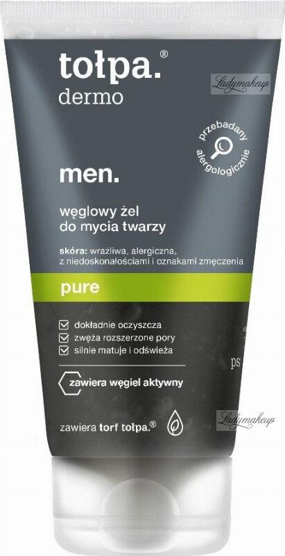 Tołpa - Dermo Men Pure - Węglowy żel do mycia twarzy dla mężczyzn - 150 ml