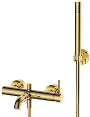 Omnires Y bateria wannowa z zestawem prysznicowym złota Y1231GL