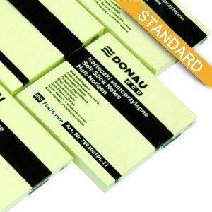 Karteczki samoprzylepne Donau Eco 76x76mm żółte /7593001PL11/