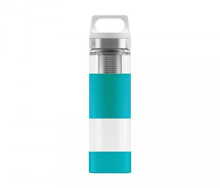Termos szklany SIGG WMB z zaparzaczem HOT & COLD Glass 400 ml (Aqua)