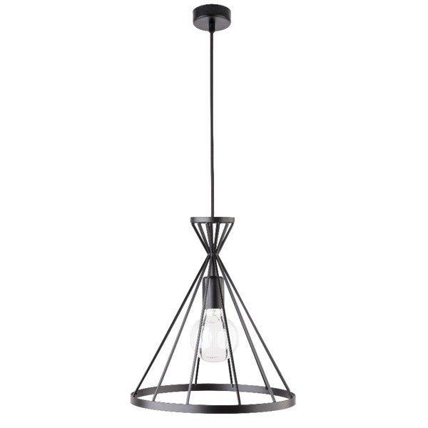 Lampa wisząca NOWUM czarna druciany stożek 31cm