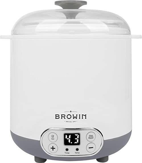 Browin 801013 Domowa Sero-jogurtownica z termostatem 1,5 L do domowych serów, jogurtów i kefirów