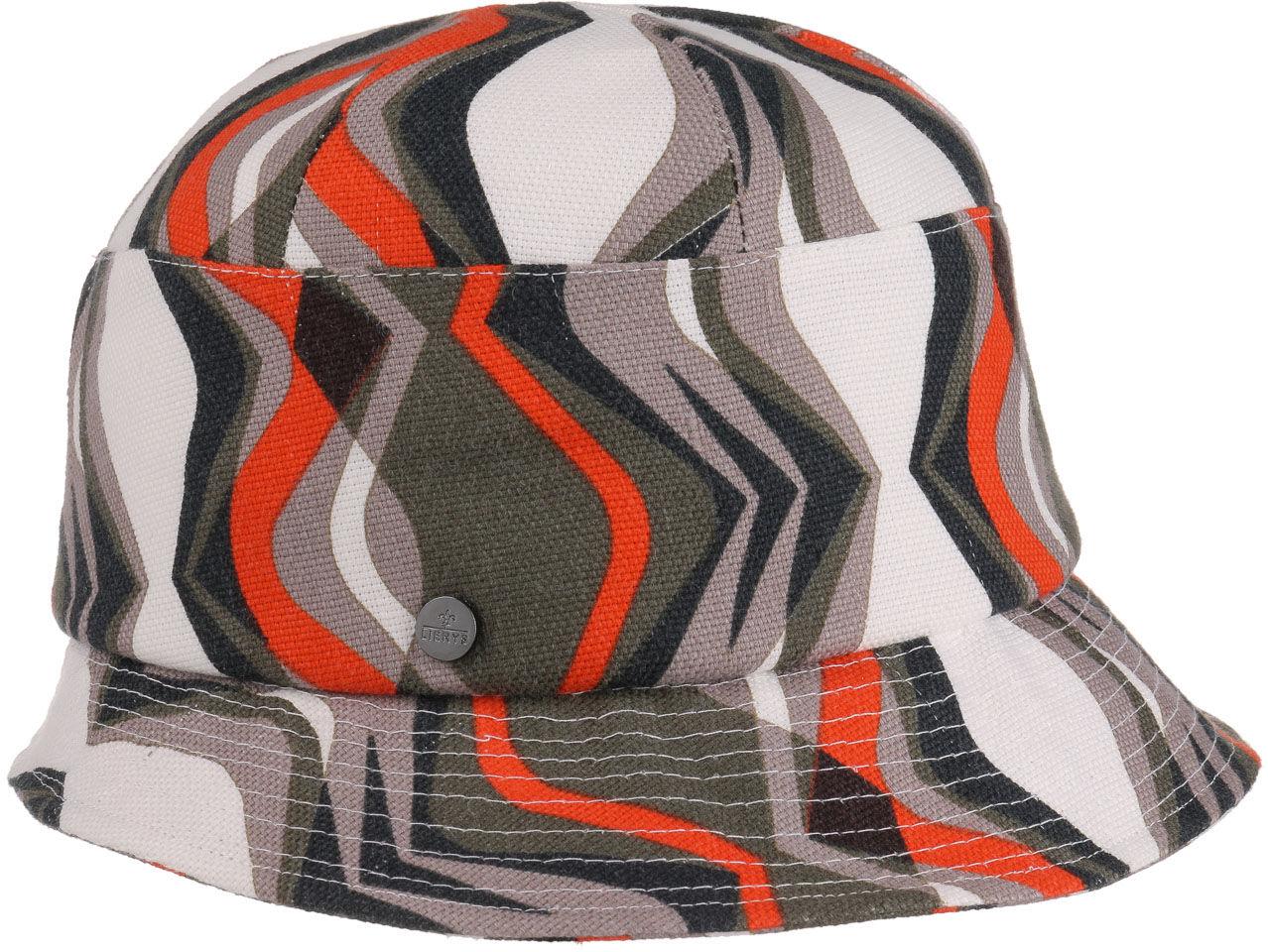 Kapelusz Tekstylny Vintage Stripes by Lierys, biały, One Size