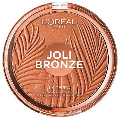 LOréal Paris Wake Up & Glow La Terra Bronze Please! bronzer i puder do konturowania odcień 03 Amalfi Medio 18 g