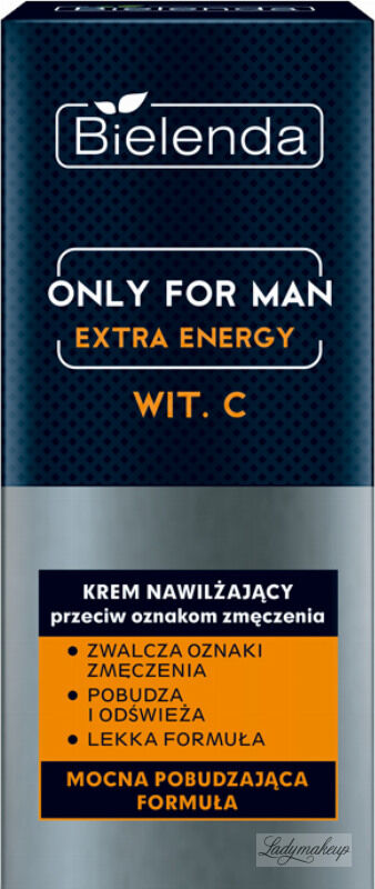 Bielenda - Only For Man - Extra Energy - Wita. C - Krem nawilżający przeciw oznakom zmęczenia dla mężczyzn - 50 ml