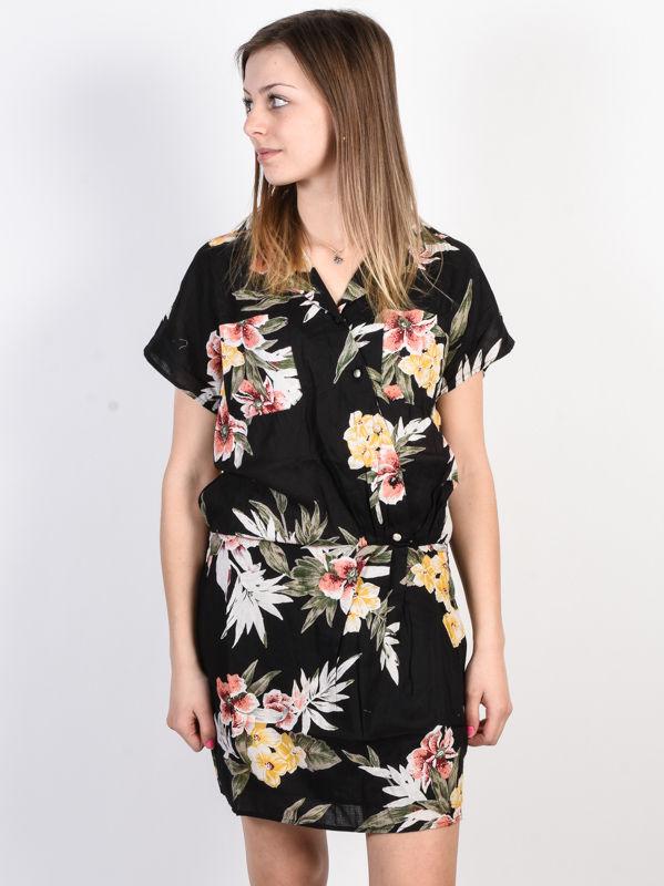Volcom RagN Flower Black Combo krótkie sukienki - S