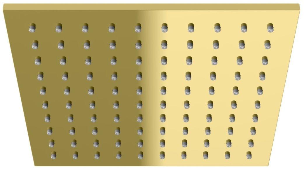 Kohlman Experience Gold deszczownica kwadratowa złoty połysk Q25EGD