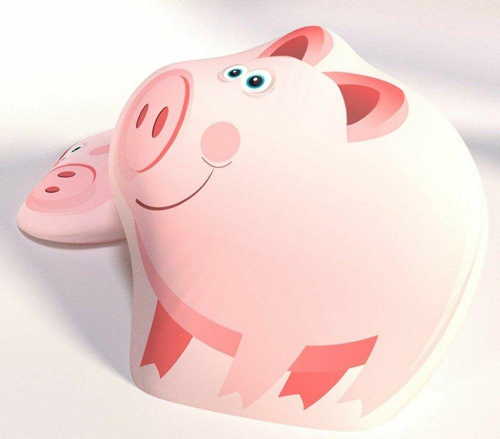 Poduszka przytulanka duża śr. 40 świnka różowa B-360