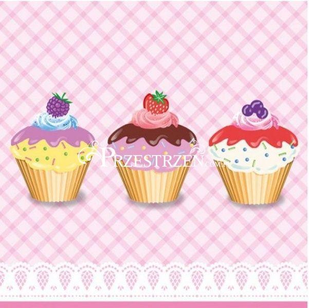 SERWETKI PAPIEROWE - Party Cupcakes - Babeczki