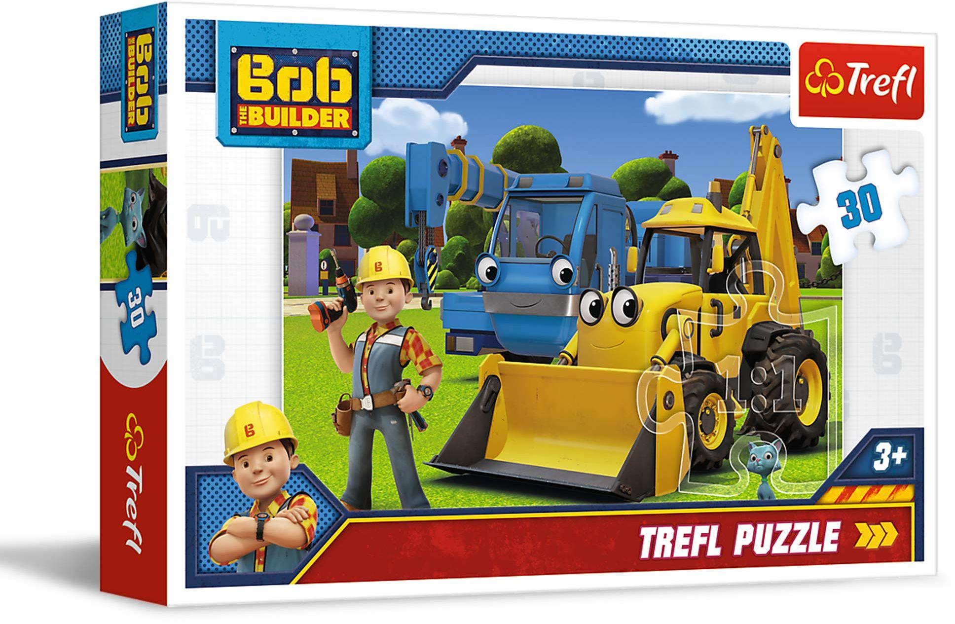 Trefl Nowe Wyzwanie Puzzle 30 Elementów Bob the Builder o Wysokiej Jakości Nadruku dla Dzieci od 3 lat