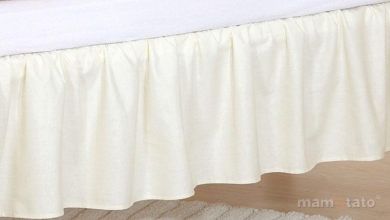 MAMO-TATO Falbanka do łóżeczka 70x140 Ecru