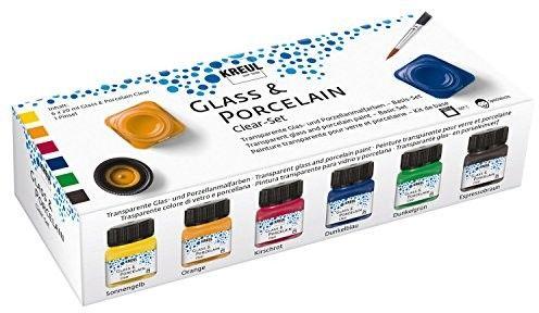 Zestaw Transparentnych Farb do Szkła i Porcelany Kreul Clear