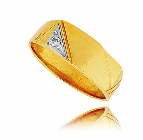 Sygnet złoty wzor meski P339