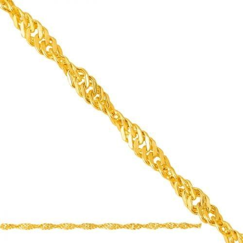 Złoty łańcuszek Pełny Singapore Lp020