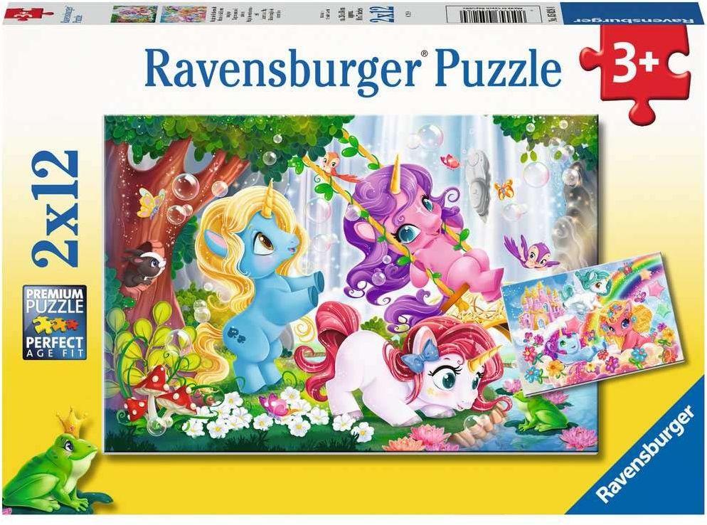 Ravensburger Puzzle 5028 Ravensburger Magiczne Jednorożce 2 2X12 Elementów Puzzle Dla Dzieci (5028) Unikalne Elementy, Technologia Softclick - Klocki Pasują Idealnie