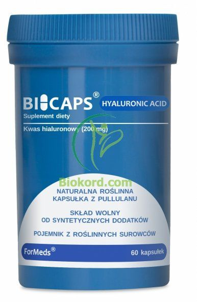 BICAPS HYALURONIC ACID, Formeds, Kwas Hialuronowy, 60 kapsułek