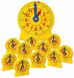 hand2mind 92905 24-godzinny numer zegar liniowy zestaw sali lekcyjnej
