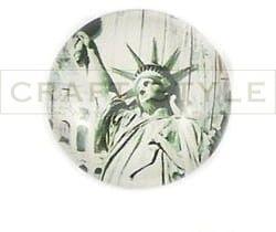 103 Kaboszon szklany 25mm Statua Wolności