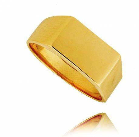 Złoty męski sygnet model P15