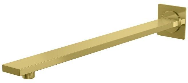 Kohlman Experience Gold kwadratowe ścienne ramię do deszczownicy 40 cm złoty połysk WQEGD