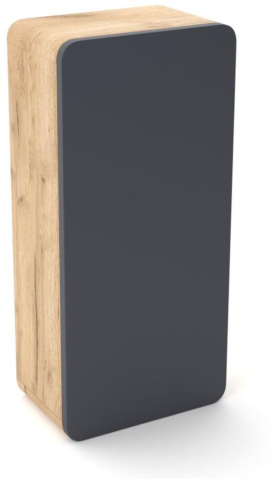 Szafka łazienkowa LOFT 35 grafit mat/dąb