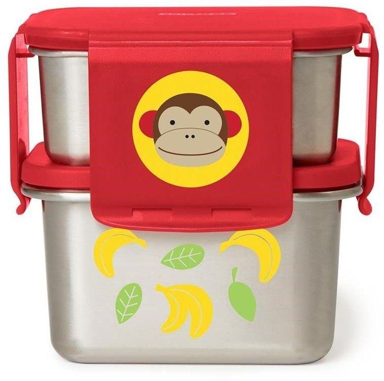 Skip Hop - Stalowe pudełko śniadaniowe Małpa