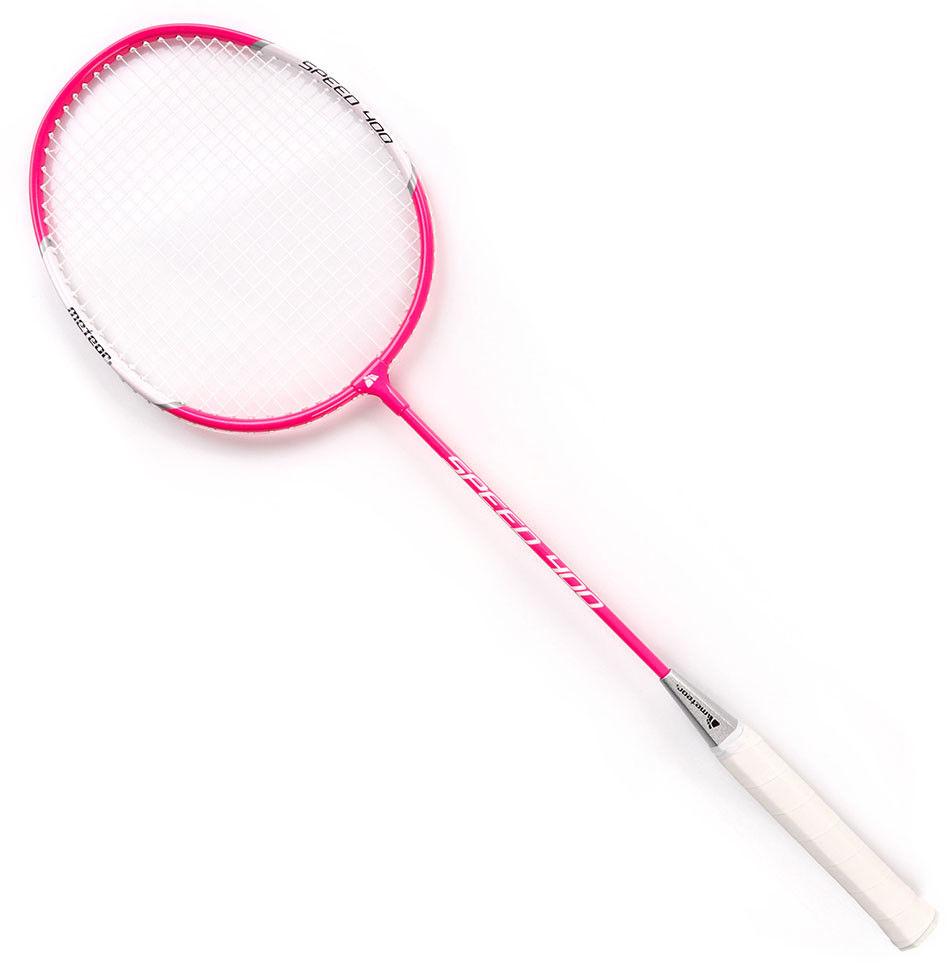 Rakietka do badmintona Meteor aluminiowa różowa
