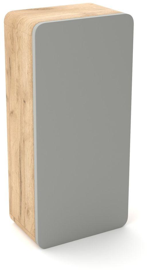 Szafka łazienkowa LOFT 35 szary mat/dąb