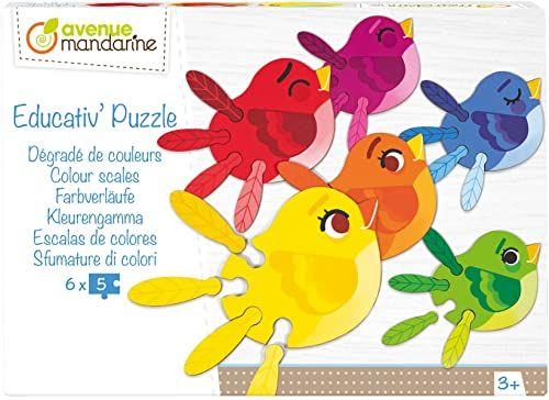 Avenue Mandarine Educativ puzzle kolorowe wagi edukacyjne