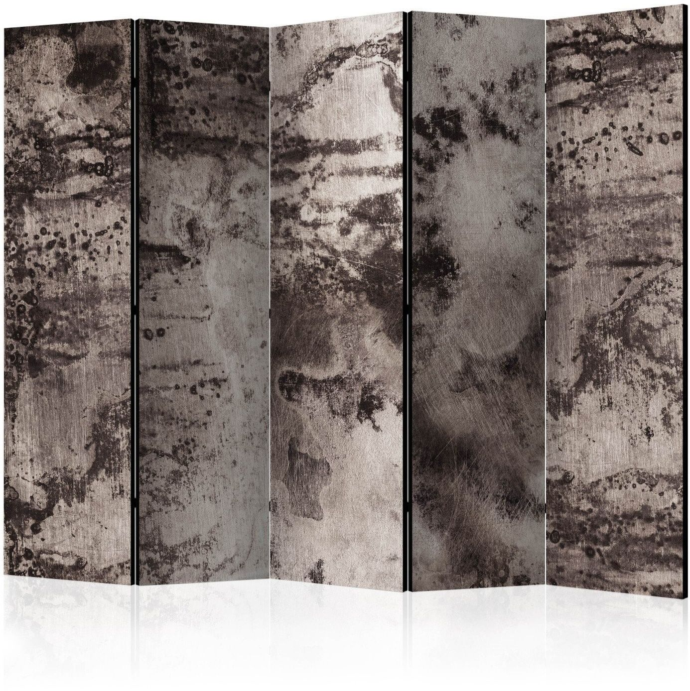 Parawan 5-częściowy - stary metal ii [room dividers]