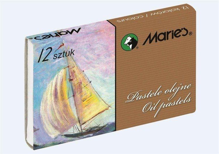 Pastele olejne E1220 12 kolorów MARIES