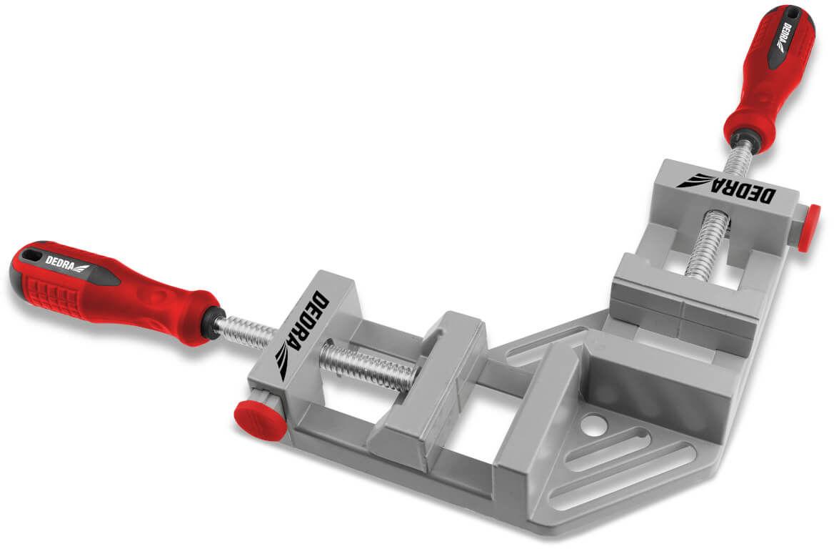 DEDRA Ścisk stolarski kątowy, ścisk narożny do kątów zewnętrznych 65x70mm 12A002