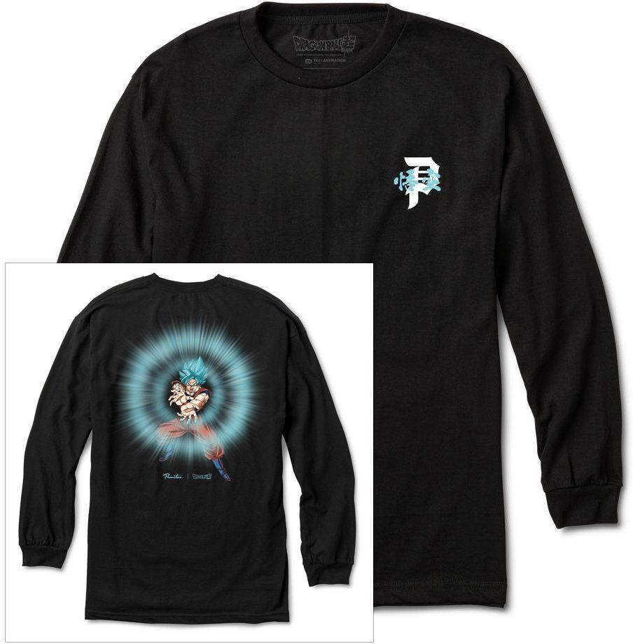 t-shirt męski PRIMITIVE (DRAGON BALL SUPER) ENERGY LS TEE Black