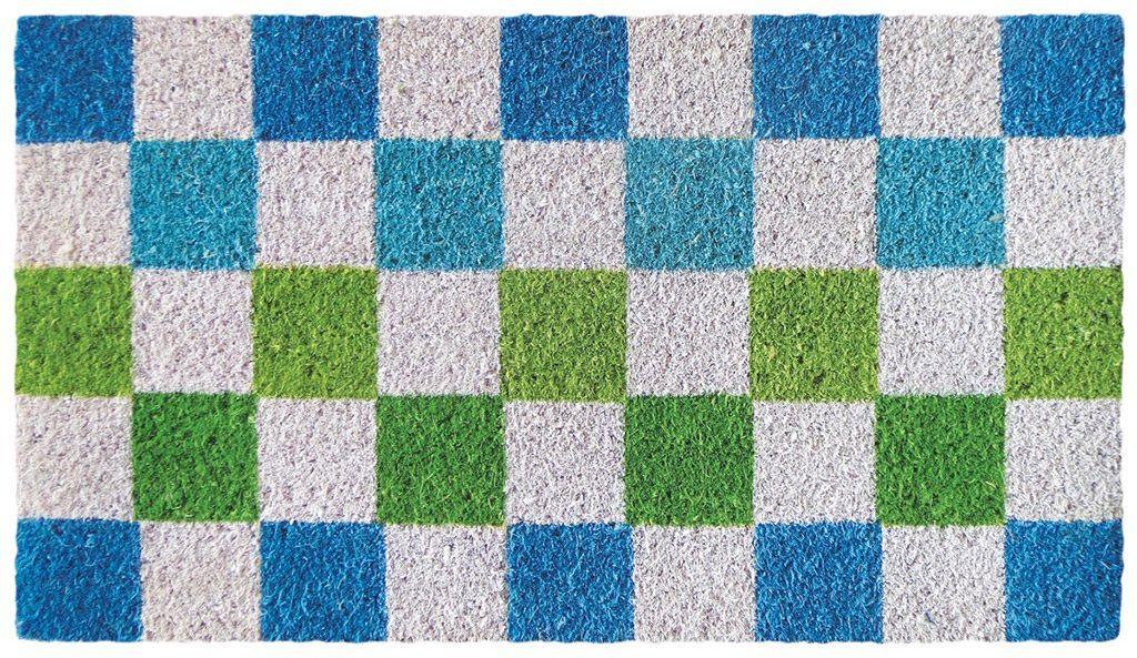 LAROOM 13715  wycieraczka ycuadrados, kolor niebieski, zielony