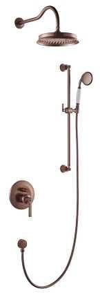 OMNIRES System prysznicowy podtynkowy, miedź antyczna Armance SYSAM20ORB