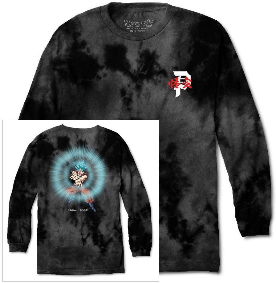 t-shirt męski PRIMITIVE (DRAGON BALL SUPER) ENERGY WASHED LS TEE Black