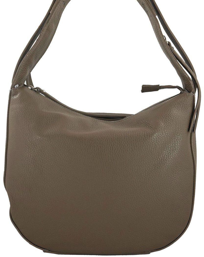 Modne torebki na ramię ze skóry naturalnej - Beżowa ciemna