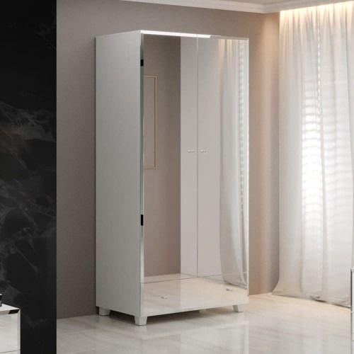 Bellagio 18 szafa 2d1s - biały/lustra