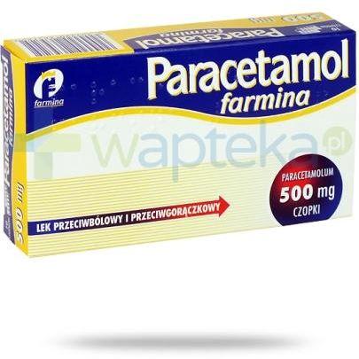 Paracetamol Farmina czopki 500mg 10 sztuk