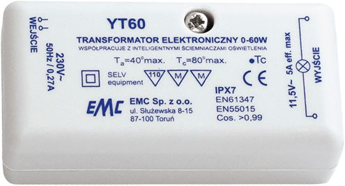 Govena transformator elektroniczny 0-60W 12V