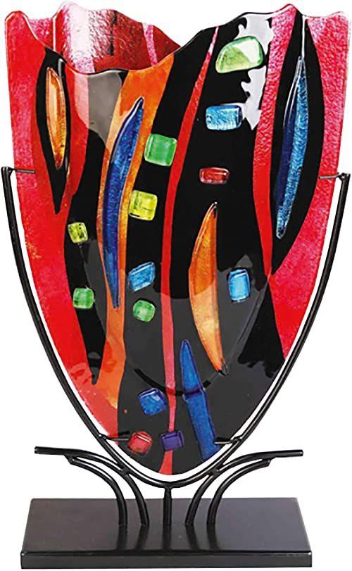 DEPICE Puchar szklany wazon mozaika, 47 cm