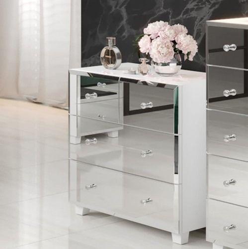 Bellagio 27 komoda - biały/lustra