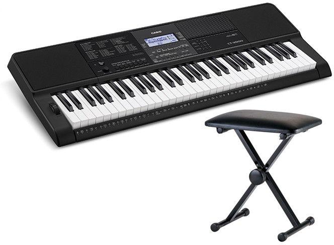 Casio CT-X800 - keyboard + ława - Raty 30x0%!