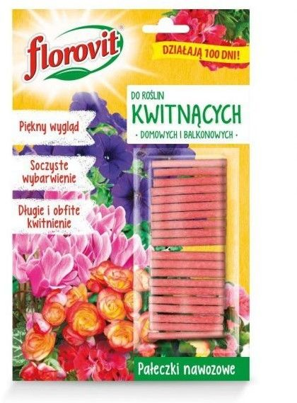 Florovit Pałeczki nawozowe do roślin kwitnących (domowych i balkonowych) 20szt
